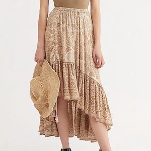 Spell Lioness Ruched Maxi Skirt